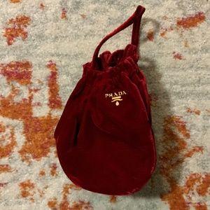 RARE Prada Veluto Será Bag in Red